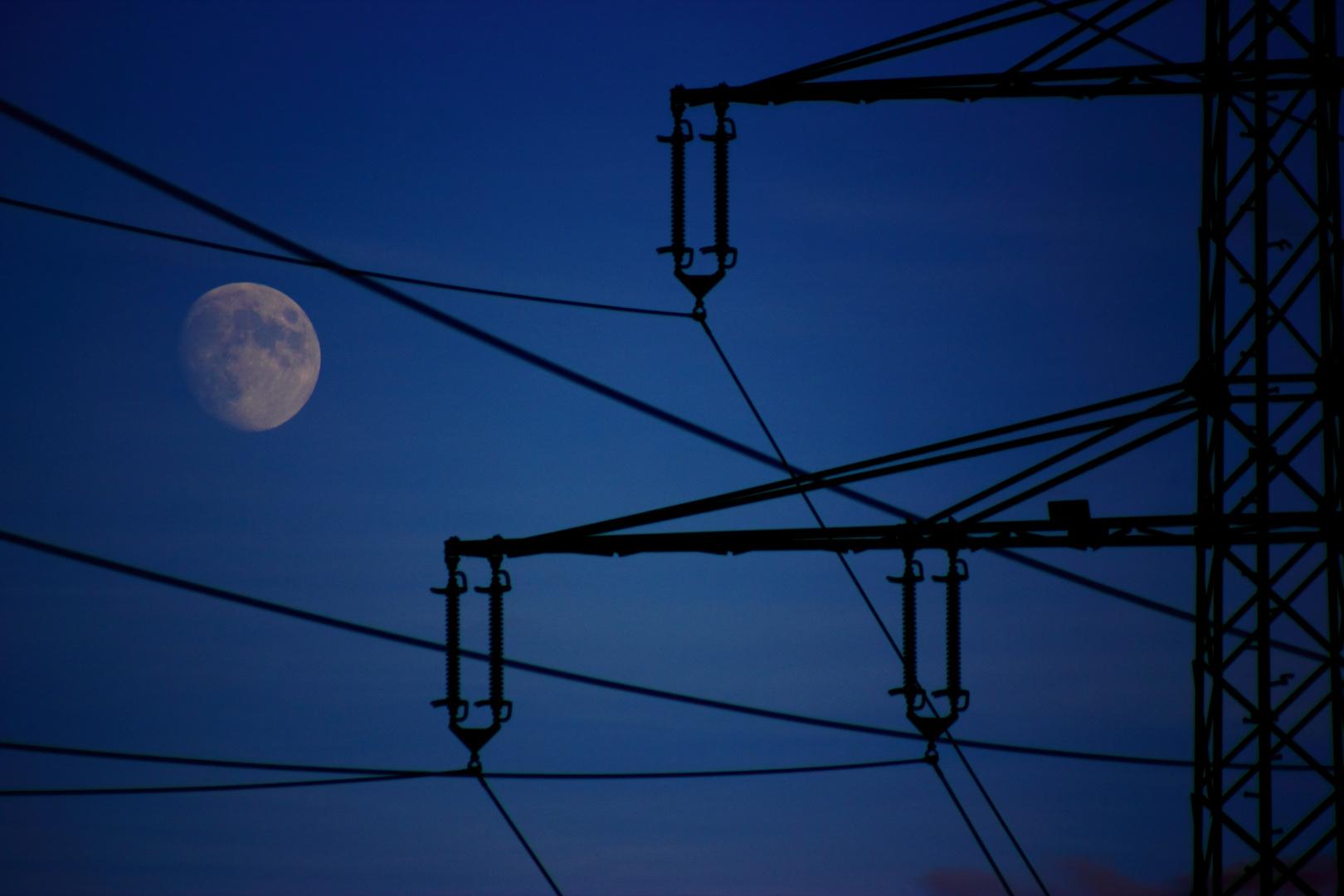 Der Mond bei Nacht.