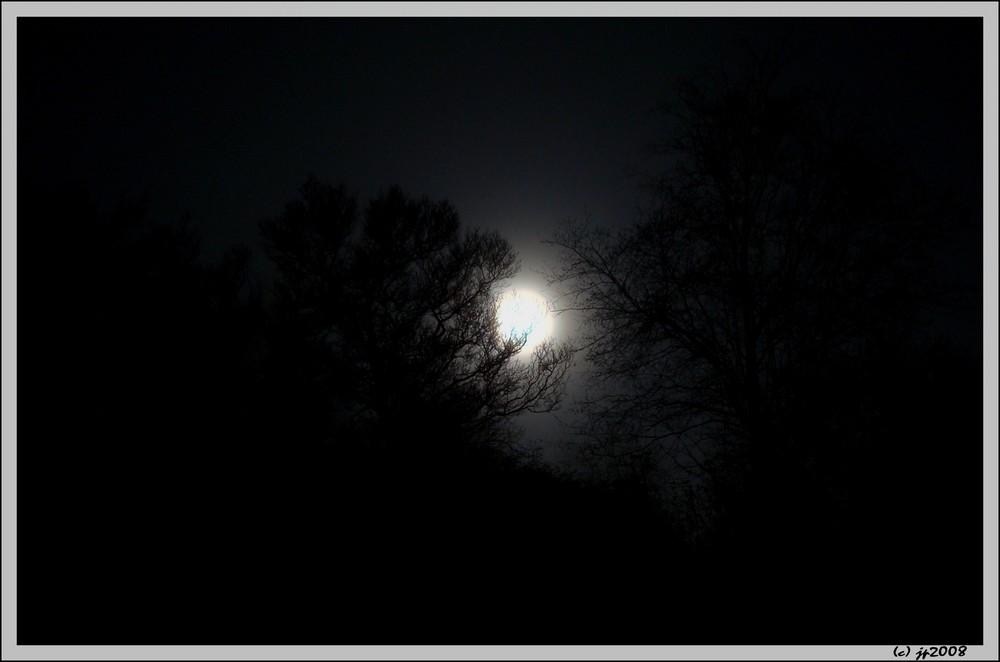 Der Mond bei Nebel