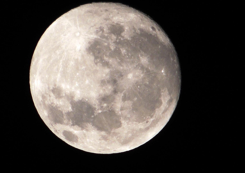 Der Mond bettelte um ein Portrait