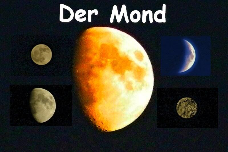 Der Mond in unterschiedliche Varianten