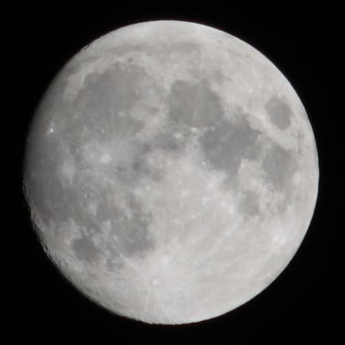Der Mond letzte Nacht um 1 Uhr