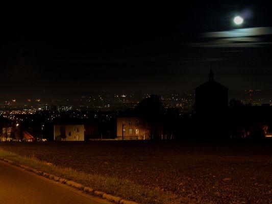 Der Mond über Dresden