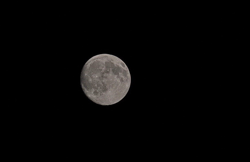 Der Mond vom 11.6.2014