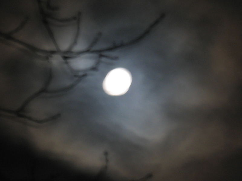 Der Mond vor dem Finsternis