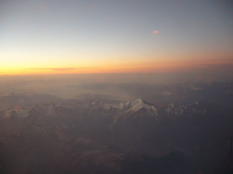Der Mont Blanc aus dem Flugzeug