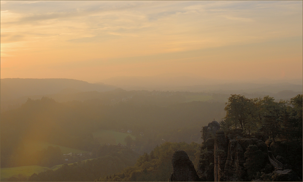 Der Morgen auf der Bastei