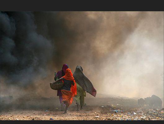 der Müllberg von Kolkata