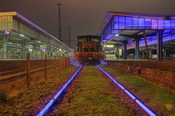 Der Museumsbahnsteig in Oberhausen