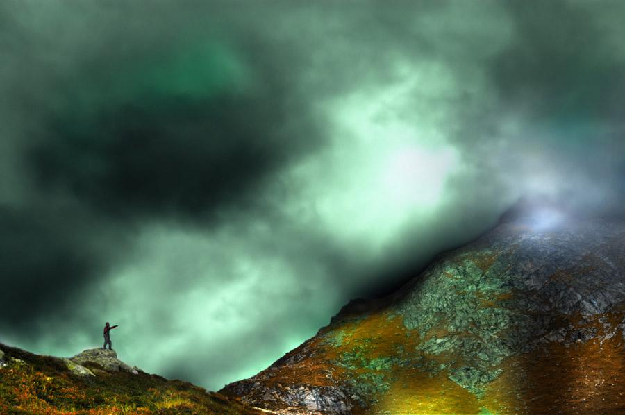 Der Mystiker - oder - Der Mann und das Licht am Berg