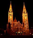 Der nächtliche Anblick des Domes zu Szeged