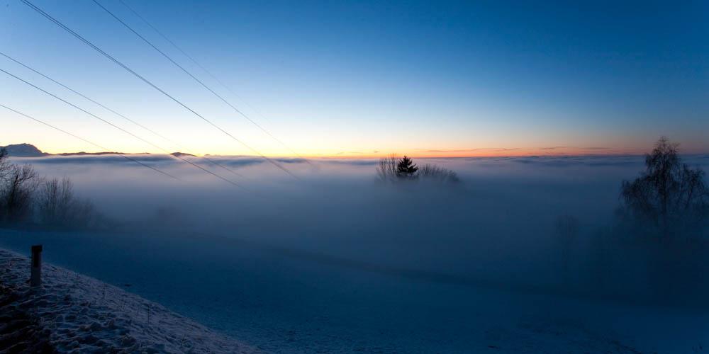 Der Nebel kommt..