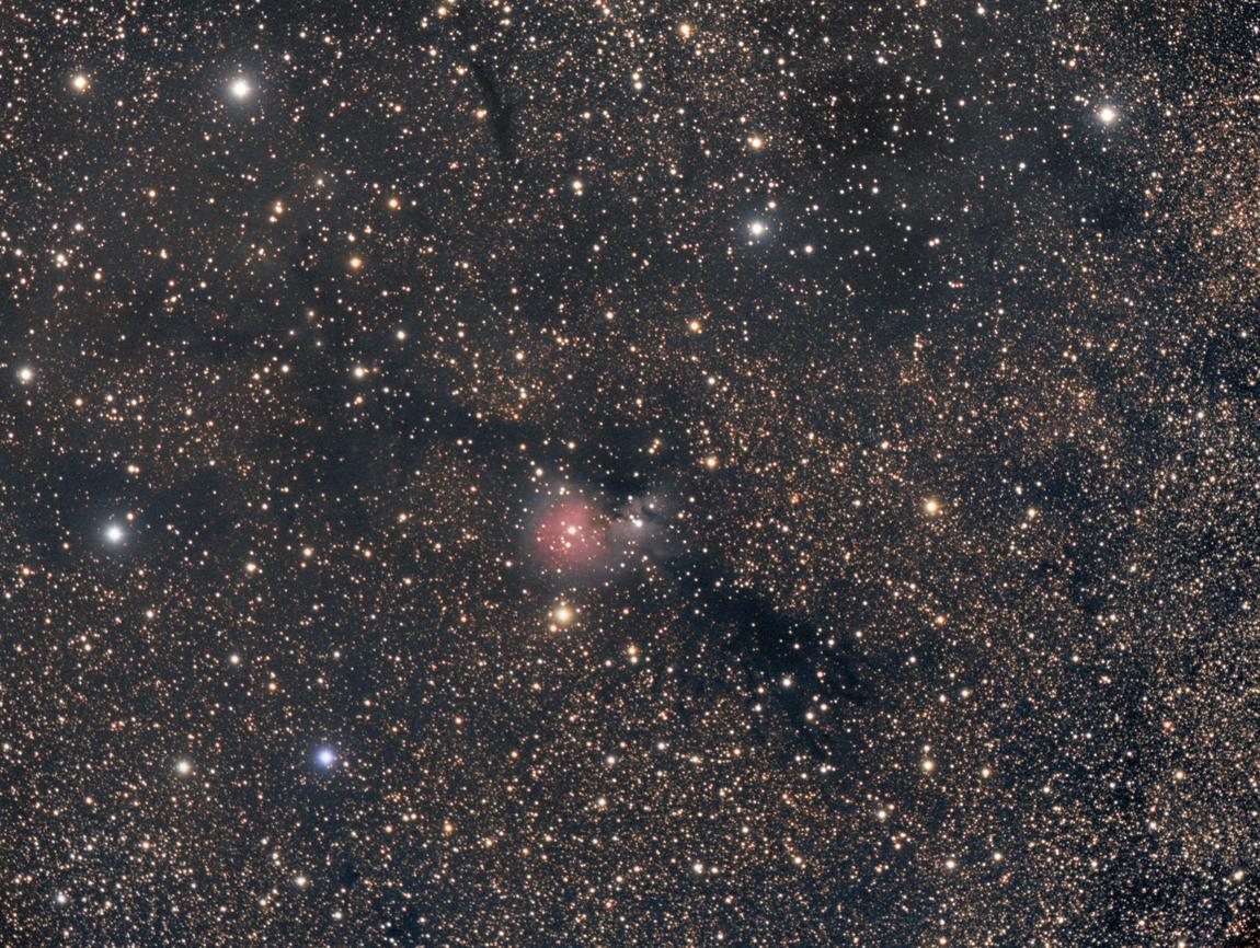 Der Nebel sh2-82 im Sternbild Sagitta