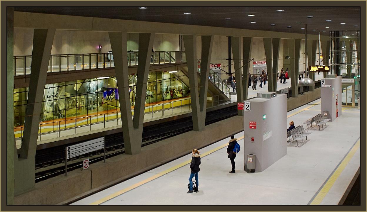 Der neue Bahnhof unter dem Breslauer-Platz