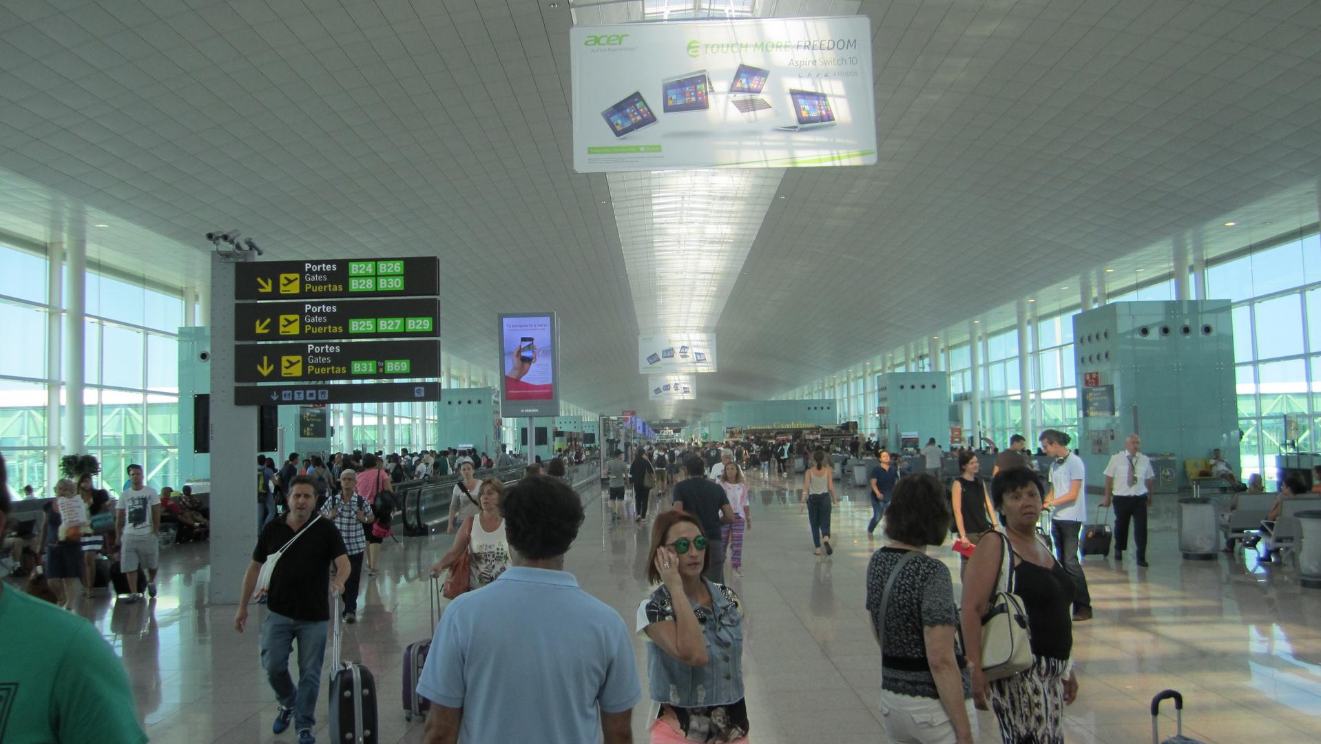 Der neue Flughafen BER in Berlin...