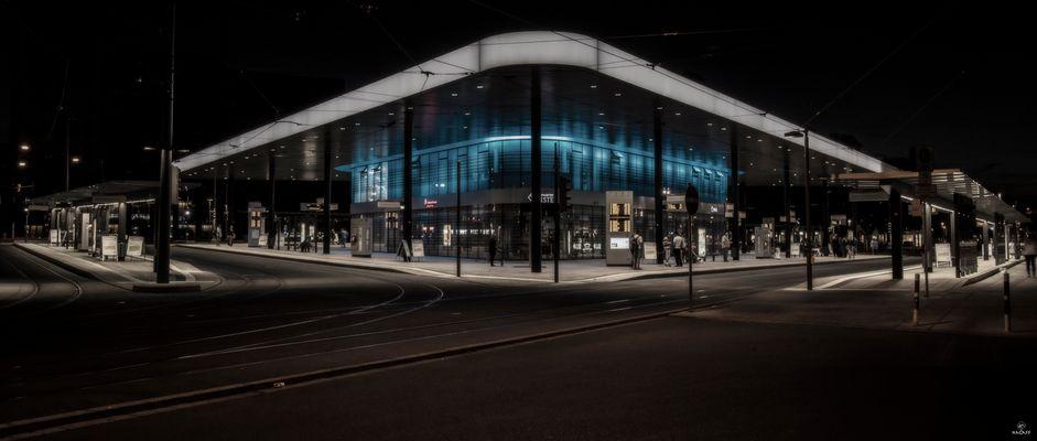 Der neue Kö in Augsburg am Abend (Bearbeitet)