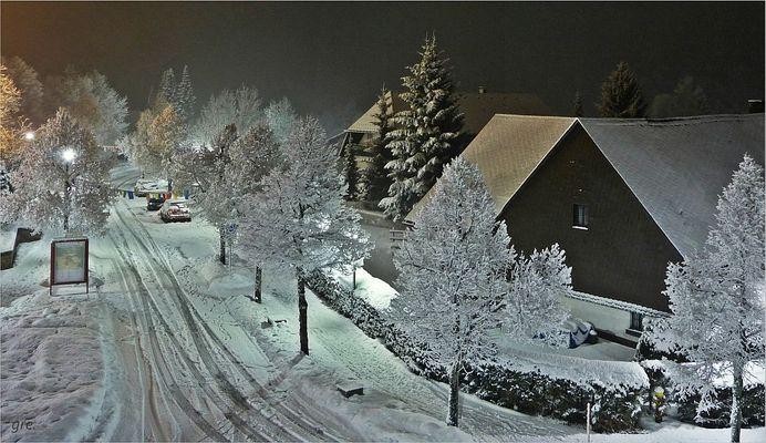 Der neue Schnee kam