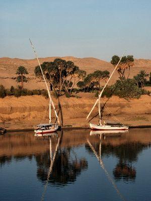 Der Nil morgens um 6