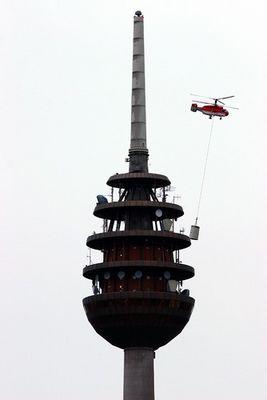 Der Nürnberger Fernmeldeturm kriegt eine neue Digitalantenne