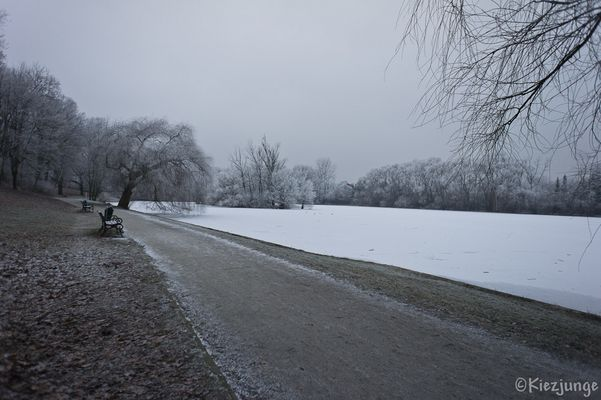 Der Obersee in Weiß
