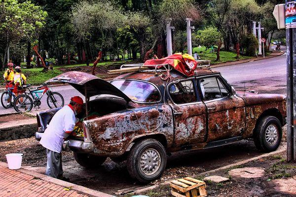 Der Obst-Händler und sein Auto