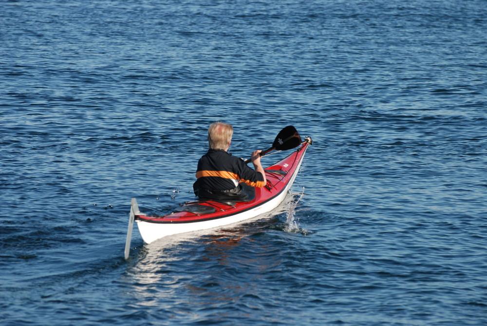 Der Paddler vor Helgoland