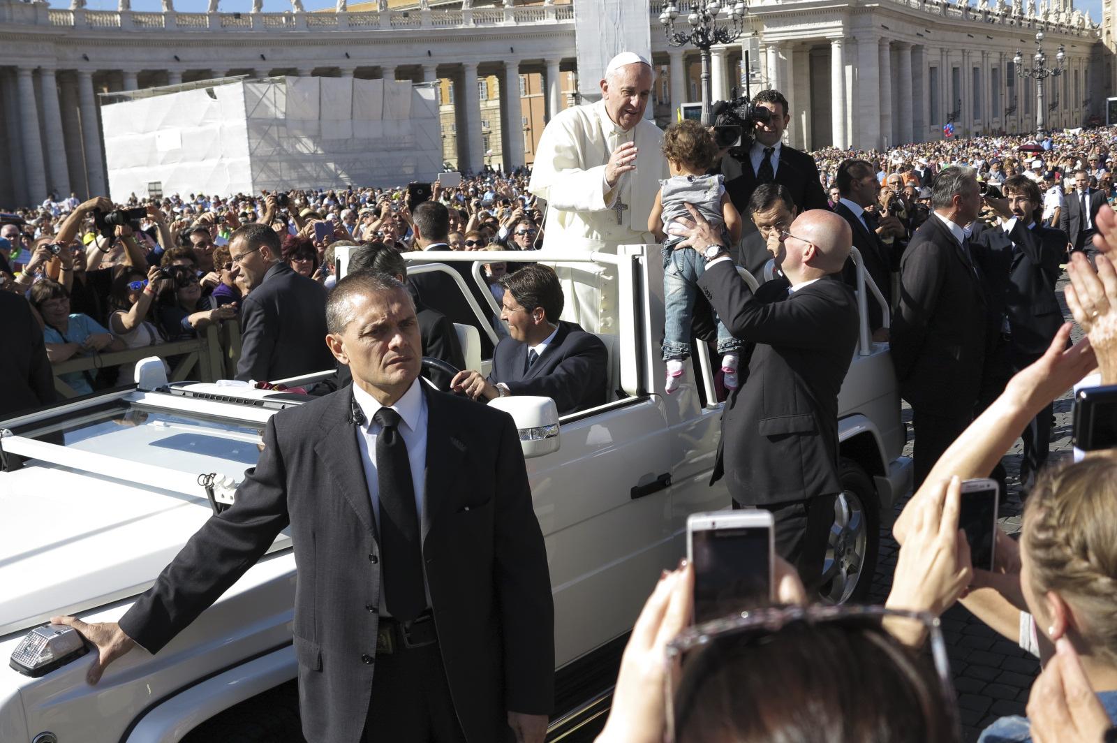 Der Papst bei einer Generalaudienz
