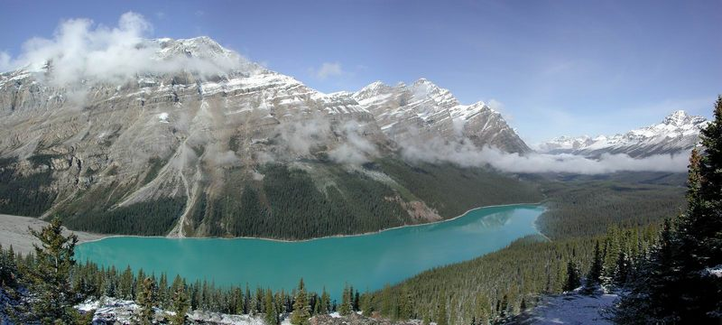 Der Peyto-Lake am Icefield-Parkway