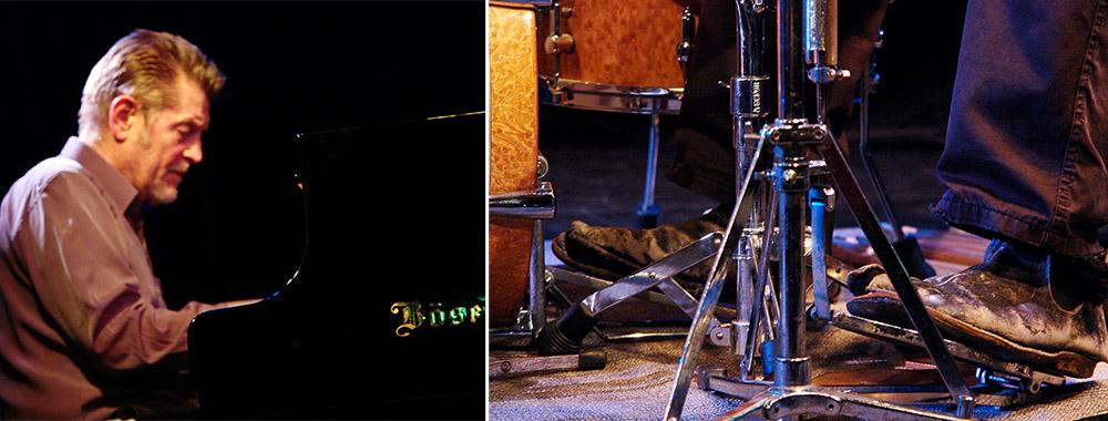 Der Pianist ist sauer, weil der Drummer schon wieder die Schuhe nicht geputzt hat