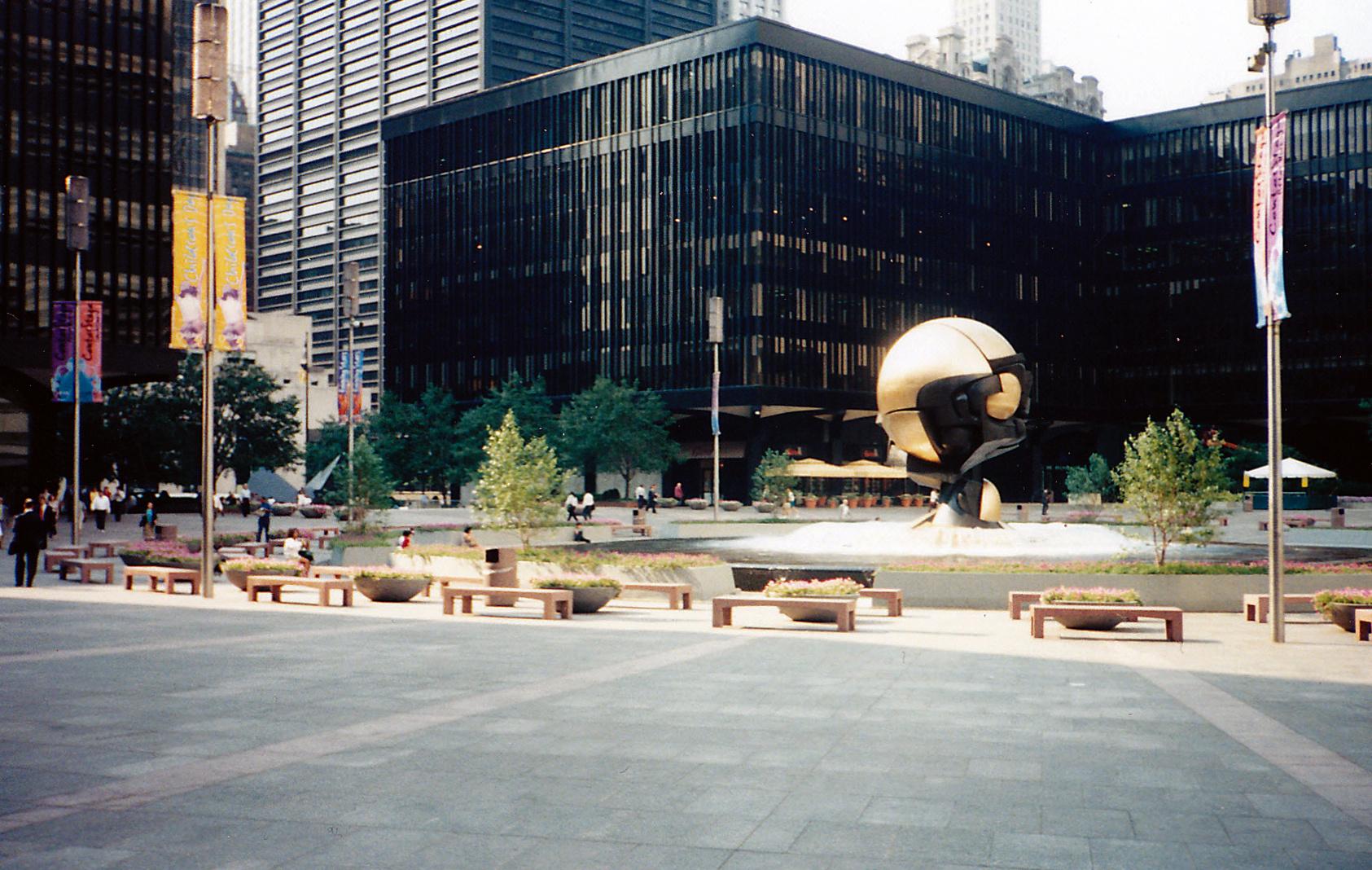 Der Platz vor dem WTC...