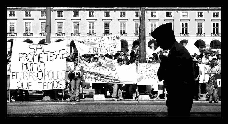 Der Polizist und die Demo