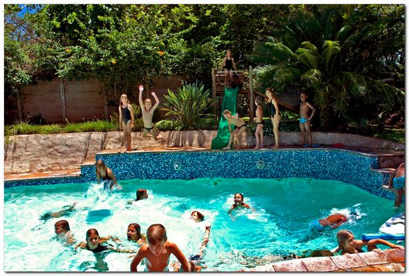 Der Pool war wieder voll.