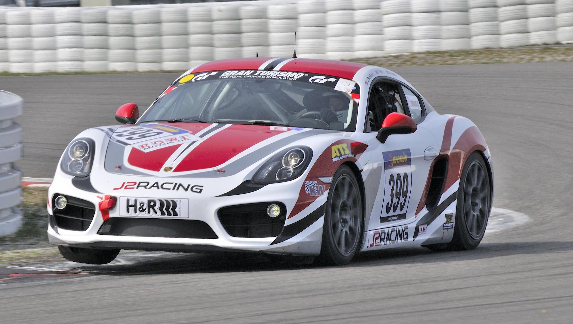 Der Porsche Cayman von Frikadelli Racing...