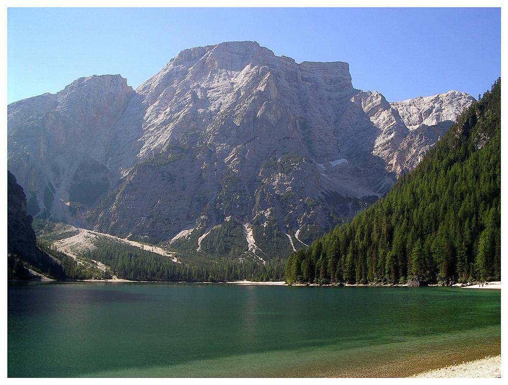 Der Pragser Wildsee in Südtirol