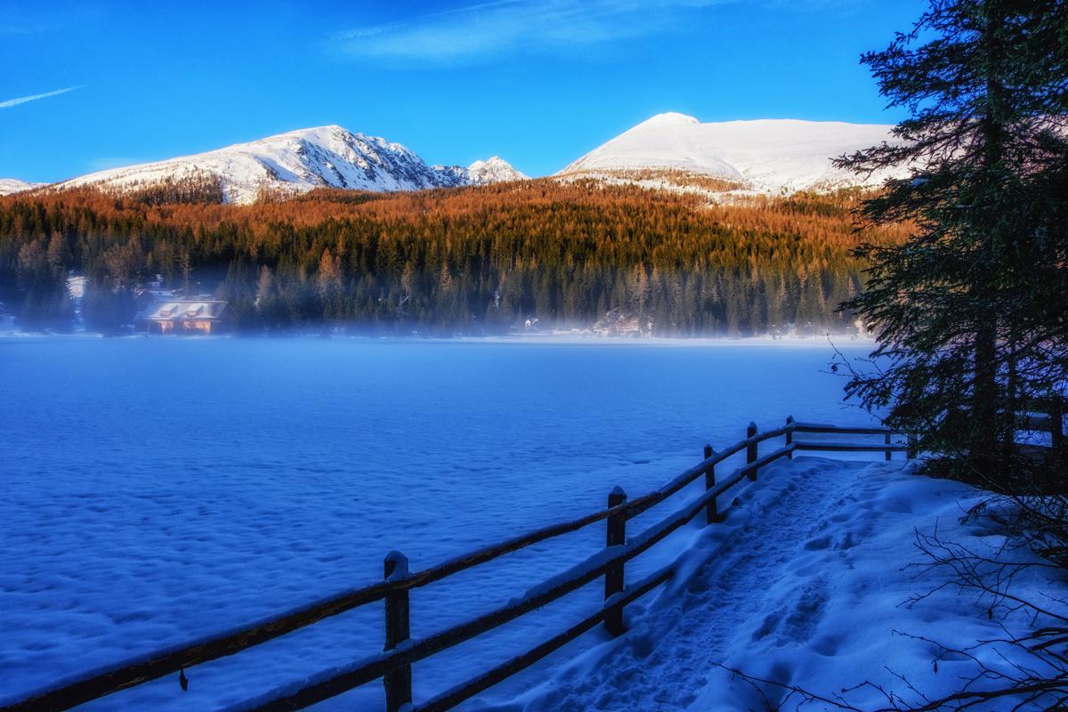 Der Prebersee im Winter