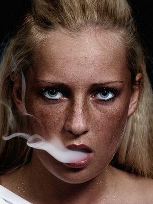 Der Qualm einer Zigarette...