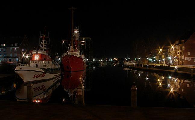 Der Ratsdelft von Emden bei Nacht