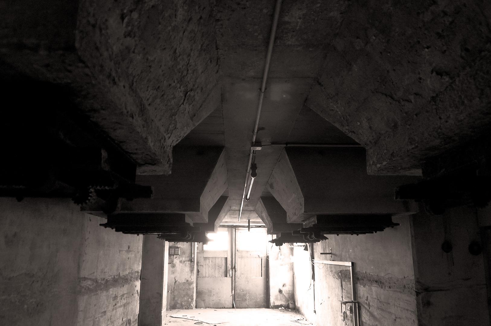 Der Raum unter dem Schornstein