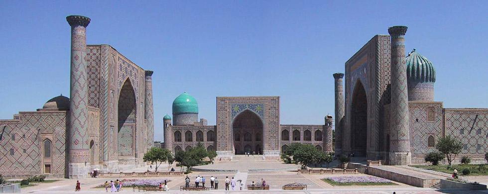 der Registan in Samarkand, Usbekistan