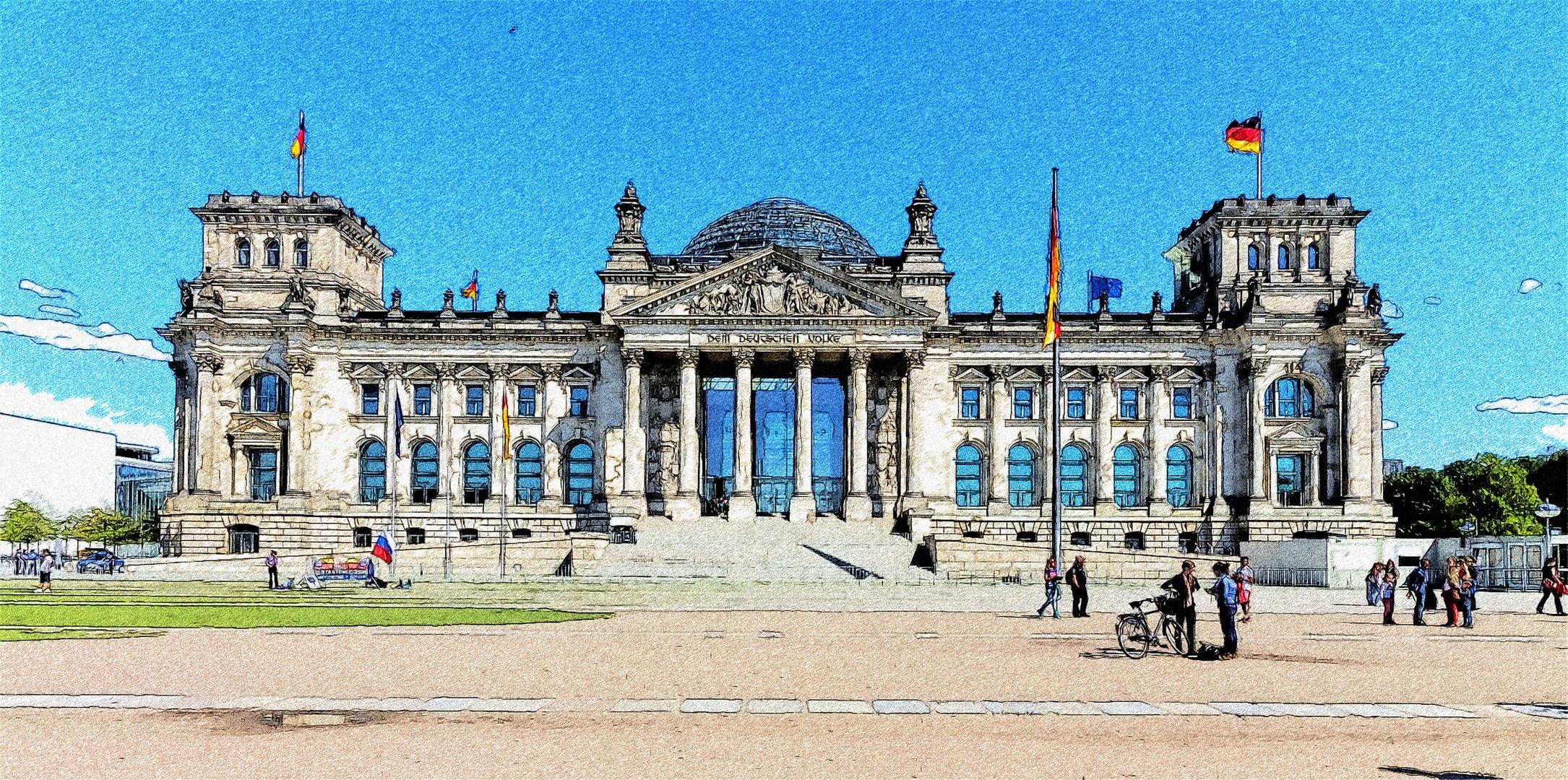 Der Reichstag zu Berlin 2014