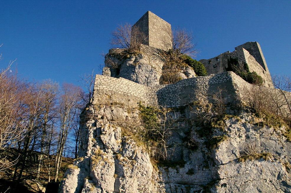 Der Reußenstein, von unten gesehen