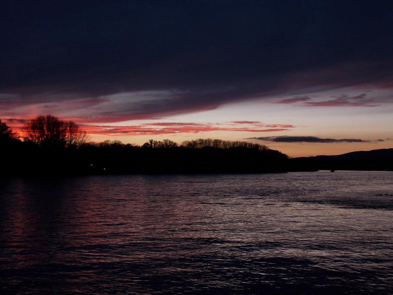 """Der Rhein am Abend """"2"""""""