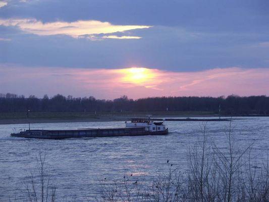 Der Rhein bei Duisburg