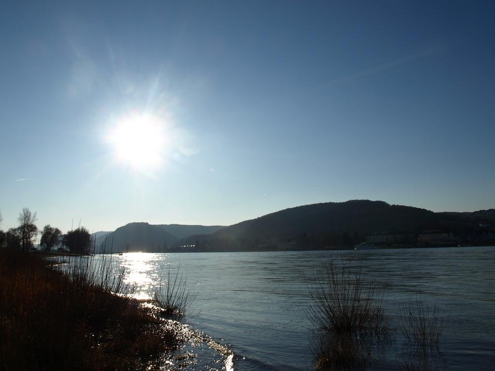 Der Rhein bei Sonne