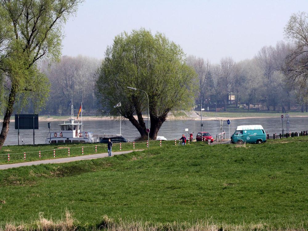 Der Rhein bei Zons Stadt Dormagen 08.04.07