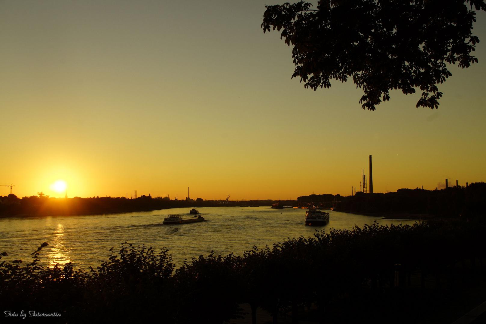 Der Rhein im Sonnenaufgang