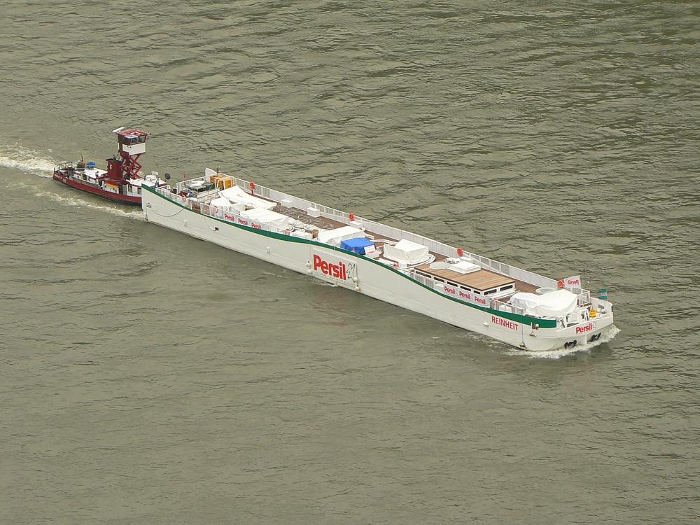 Der Rhein wurde wieder  gereinigt.