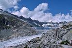 Der Rhone Gletscher  / CH - und der Rest davon.