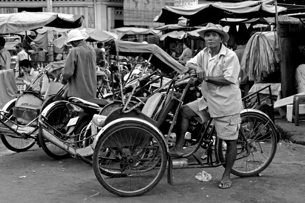 Der Rikschafahrer.