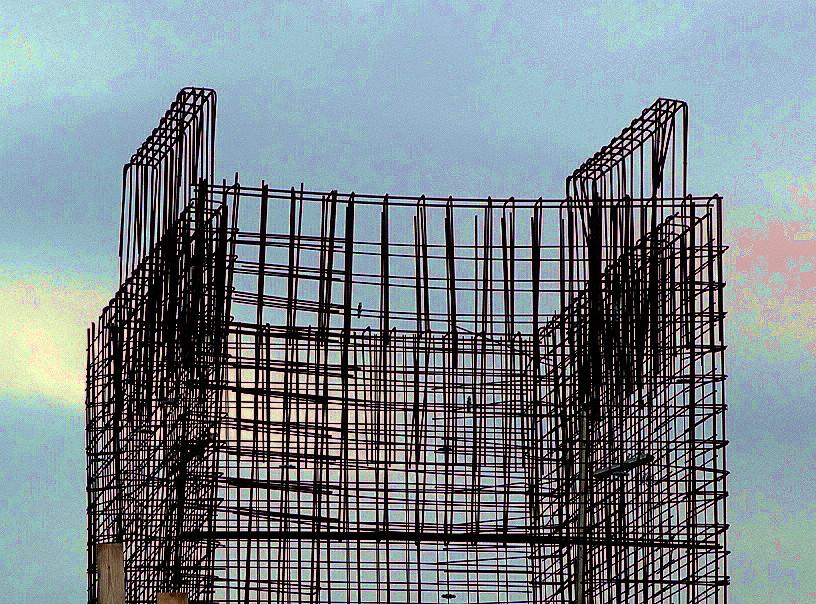 Der Rohbau des Wolkenkuckucksheims
