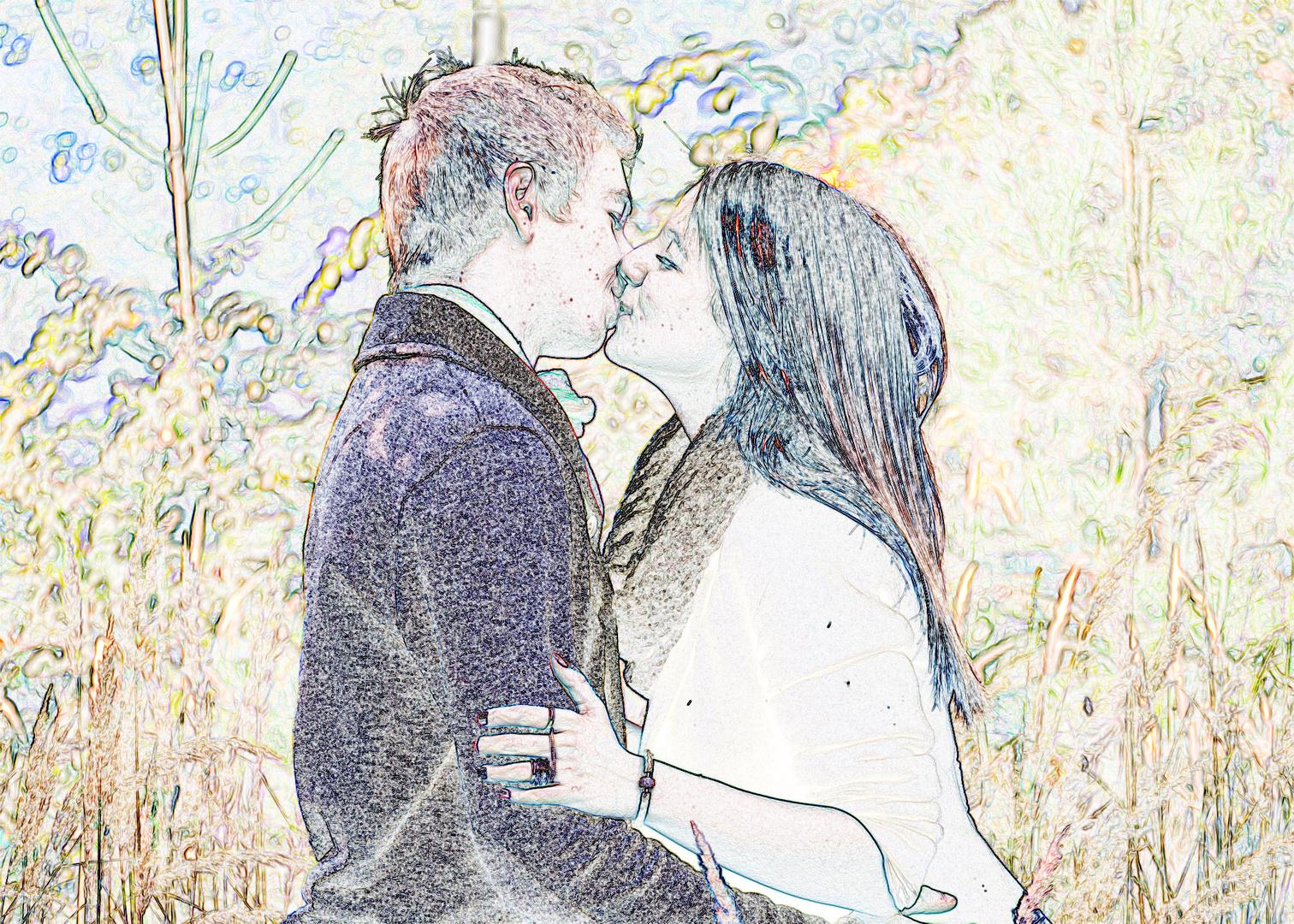 Der romantische Kuss